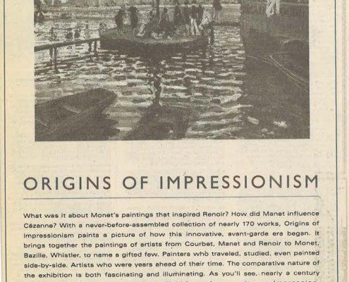 1994-1995 - New York Times - Philip Morris - Metropolitian Museum of Art - Origins of Impressionism