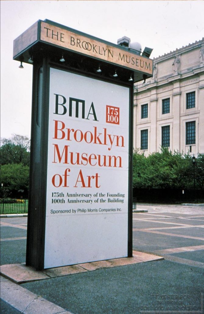 1998 - Philip Morris - Brooklyn Museum Outdoor Advertisement Art