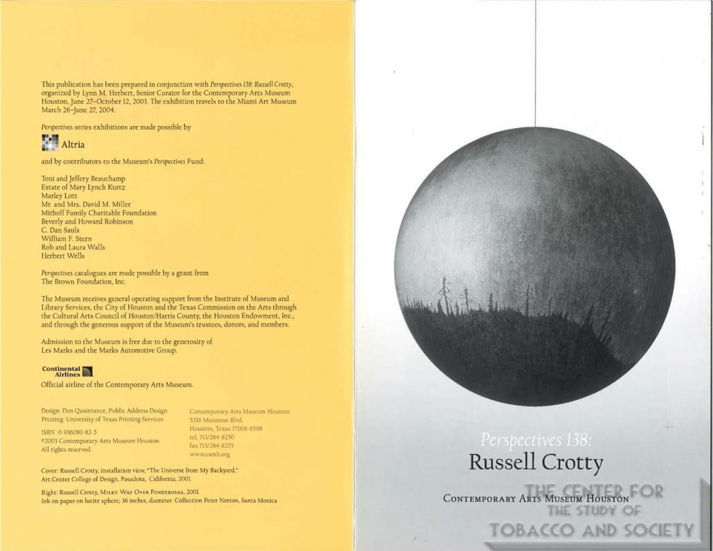 2001 - Altria - Contemporary Arts Museum Houston - Perspectives 138-Russe; Crotty
