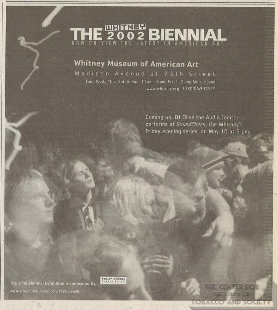 2002 - The Whitney at Philip Morris - The Whitney Biennial