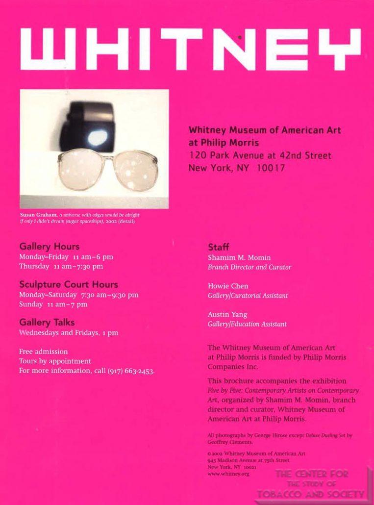 2002 - Whitney Museum of American Art at Philip Morris - Whitney Brochure (2)