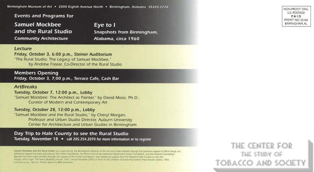 2003 - Birmingham Museum of Art - Samuel Mockbee and the Rural Studio Community Architecture