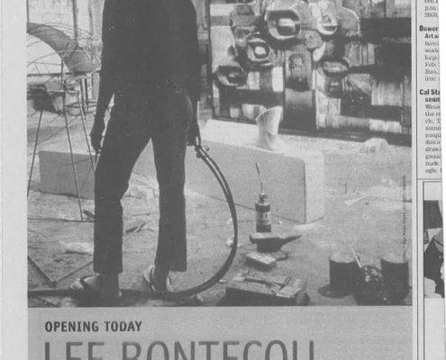 2004 - New York Times - Altria - Museum of Contemporary Art Chicago - Lee Bontecou A Retrospective