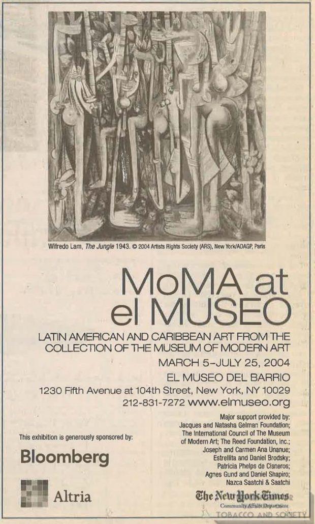 2004 - Philip Morris - New York Times - Museo del Barrio ad