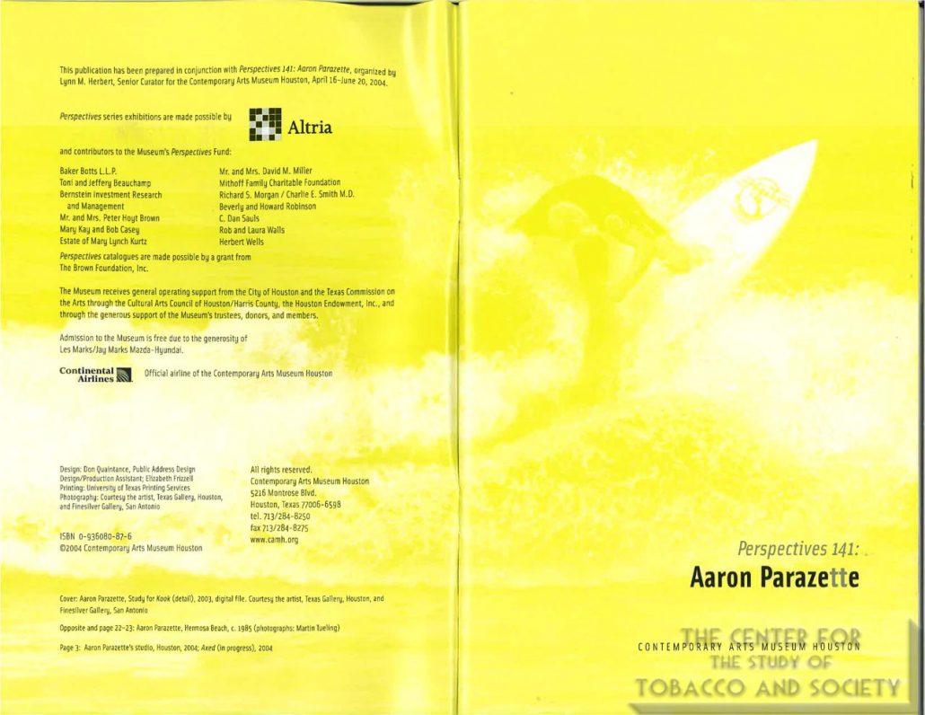 2005 - Altria - Contemporary Arts Museum Houston - Persepctive 141-Aaron Parazette