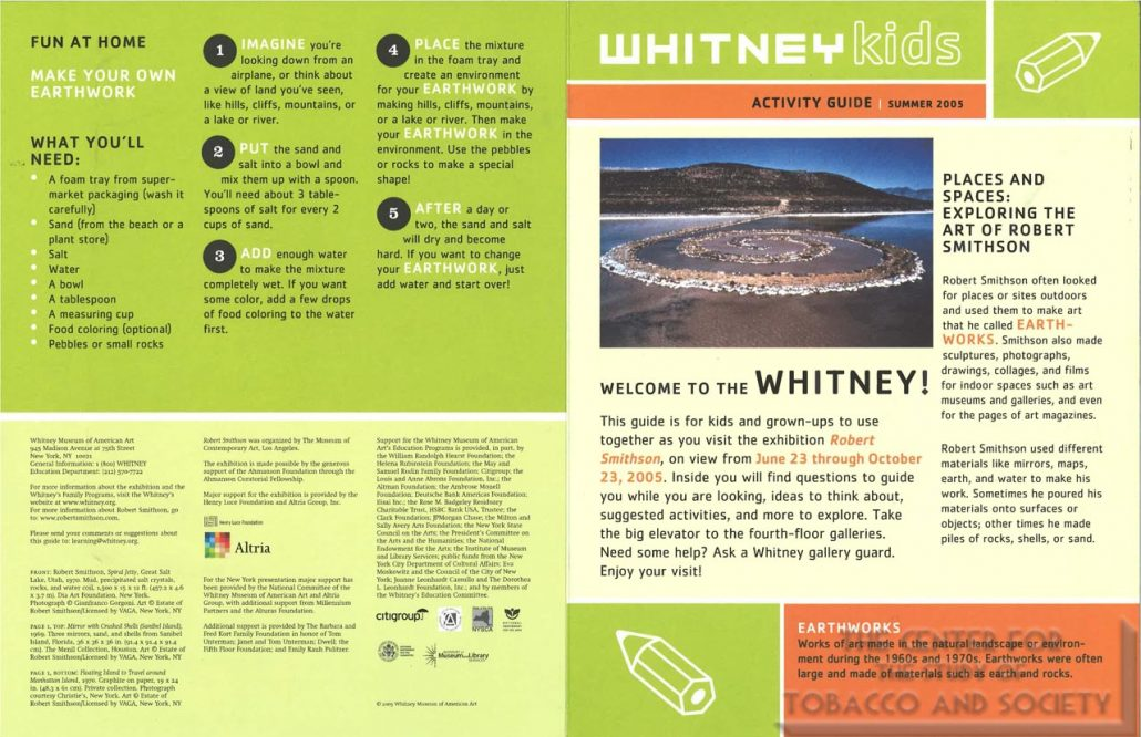 2005 - Whitney Museum of American Art - Altria - Kids Guide