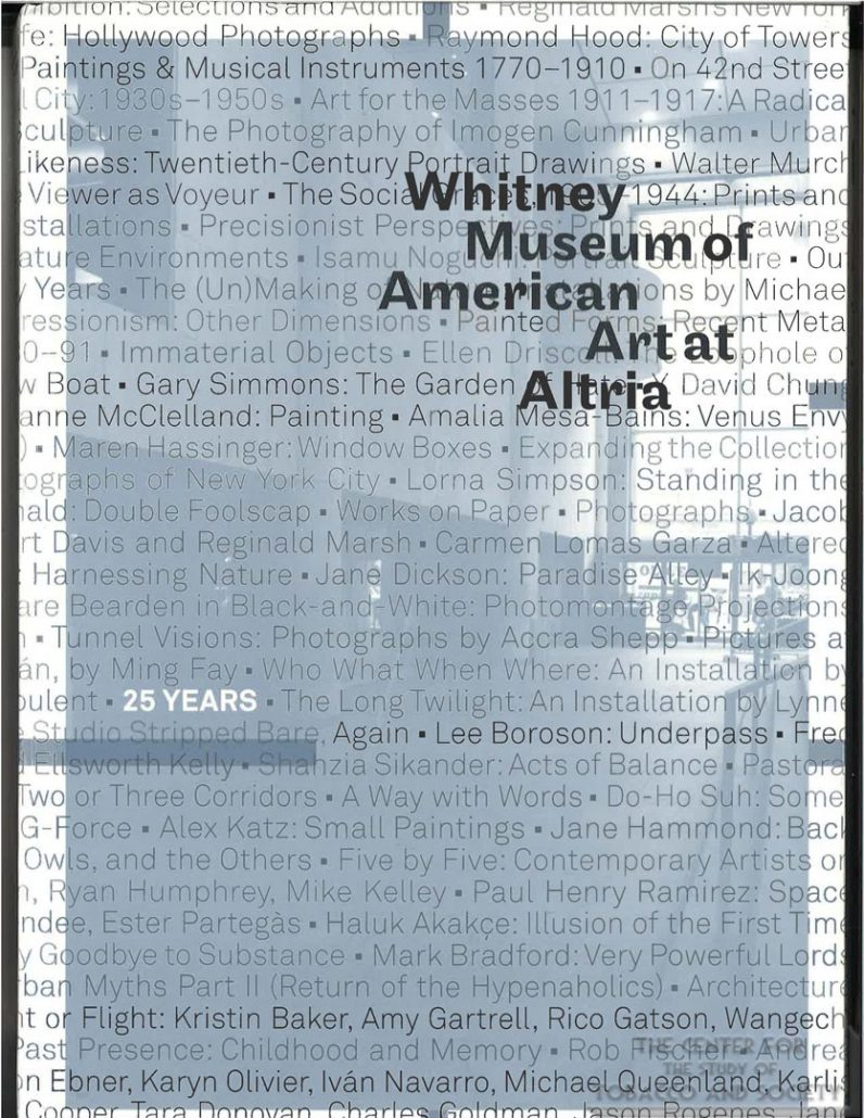 2008 - Book Whitney Museum at Altria 25 Years_Page_01