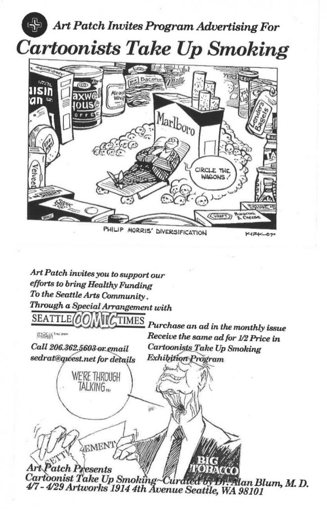 n.d. - Seattle Art Patch - Cartoonists Take Up Smoking Flier
