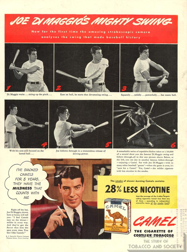 1942 - Life - Joe DiMaggio for Camel