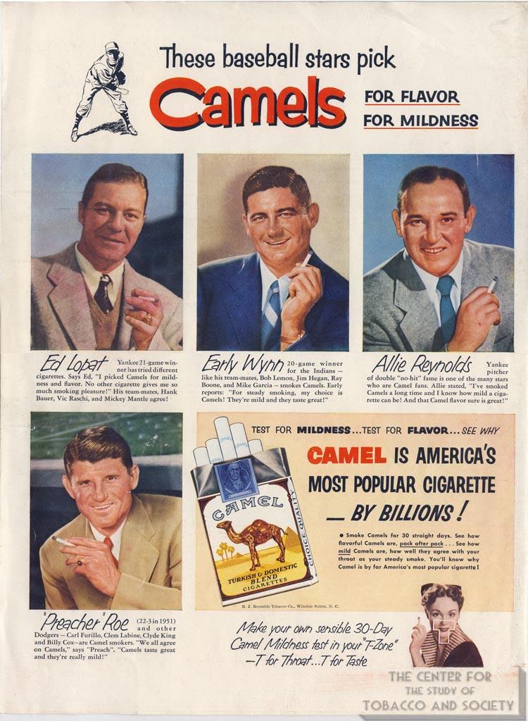 1952- Ed Lopat, Early Wynn, Etc. for Camel