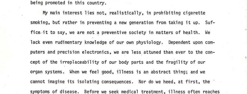 1977-06-26 - Alan Blum first presentation at National Forum ACS