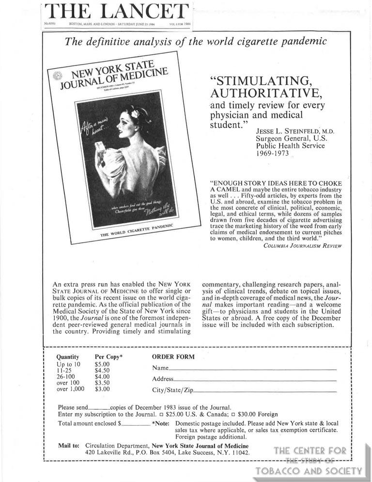 1980 - NYSJM and Cigarette Underworld Headlines
