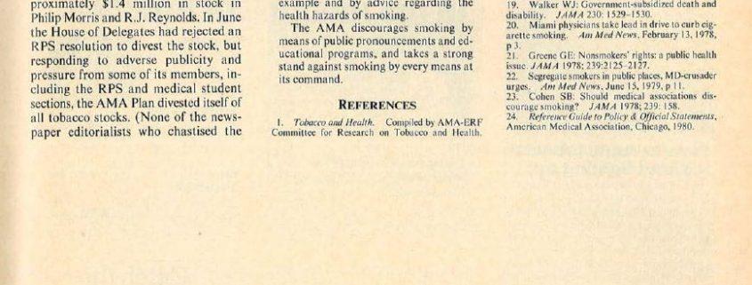 1983 - NYSJM - Using Athletes to Push Tobacco to Children