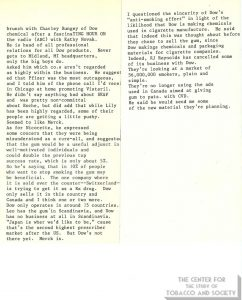 1984- AB Notes on Meeting with Merrell-Dow Salesman