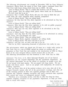 1985-11- TS & DOC Counter-Ad Transcript - They Are Selling Death