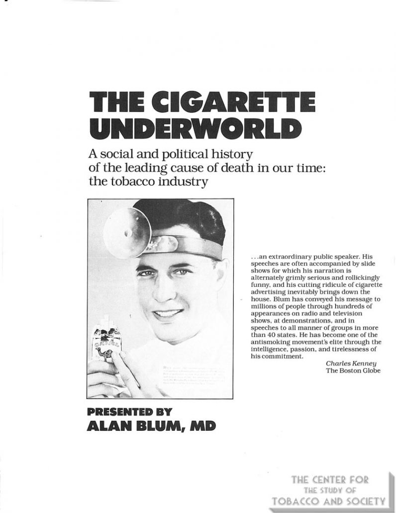 1985- 'The Cig Underworld' Promotional Brochure