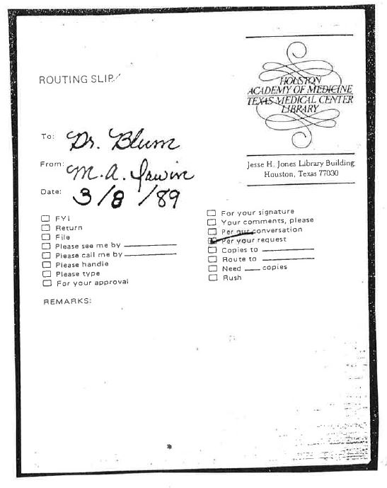 1988 - Texas Medical Center Library -Wall Cards -When _More Doctors Smoked Camels_ Contents and Legends