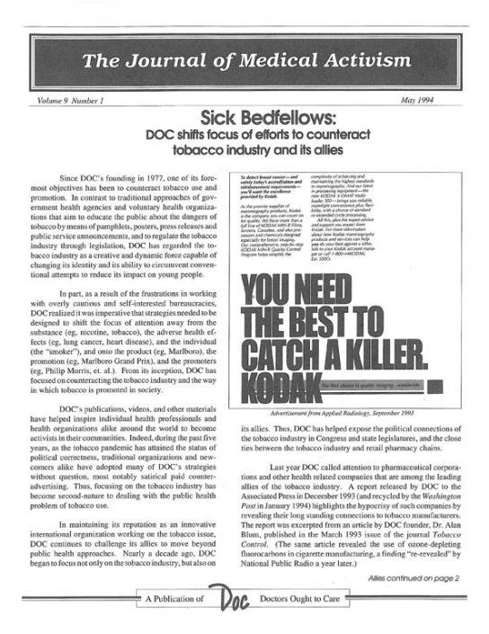 20. 1994-05- Journal of Medical Activism