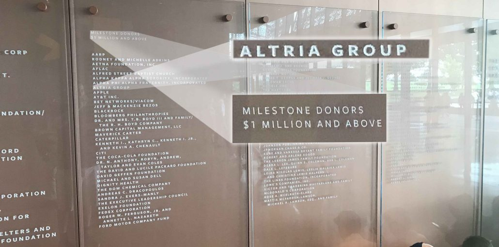 2019 - Altria Sponsors the National Museum of African American History and Culture - Highlight