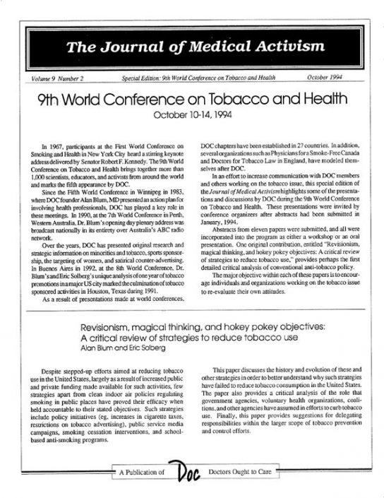 21. 1994-10- Journal of Medical Activism