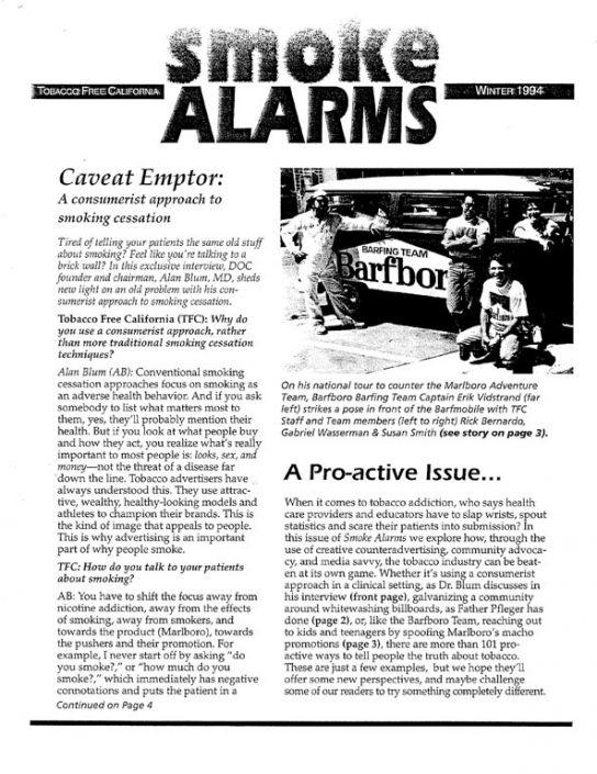 22. 1994, Winter- Tobacco Free California Newsletter