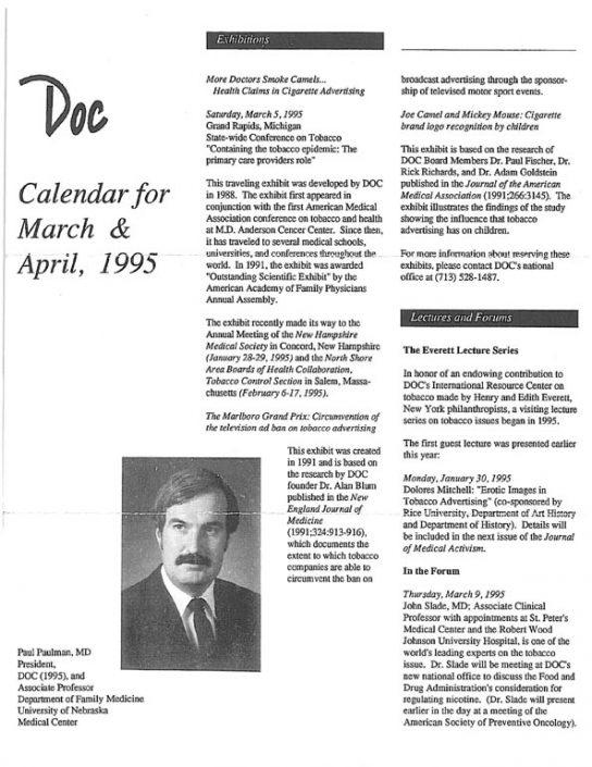 23. 1995- March & April Calendar of Events