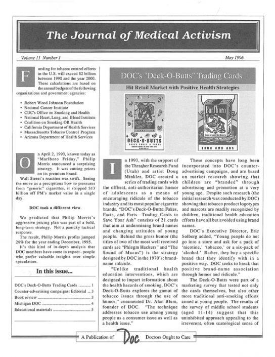 30. 1996-05- Journal of Medical Activism