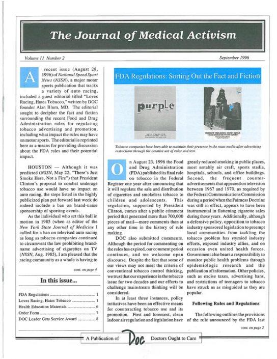 31. 1996-09- Journal of Medical Activism