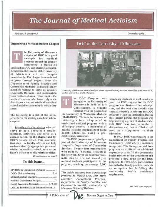 32. 1996-12- Journal of Medical Activism