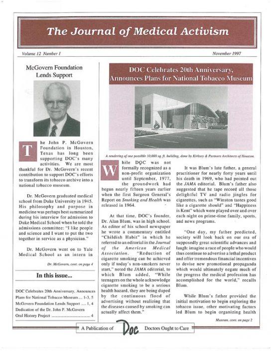 33. 1997-11- Journal of Medical Activism