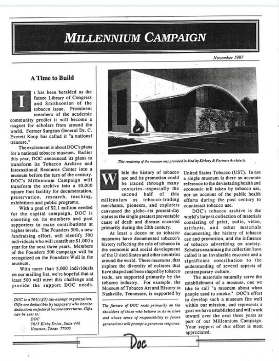 35. 1997- DOC Millennium Campaign 2