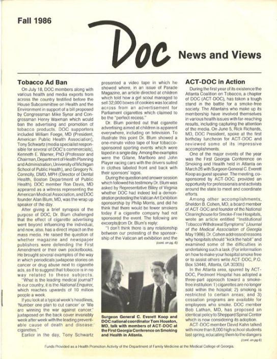 4. 1986, Fall- DOC News & Views