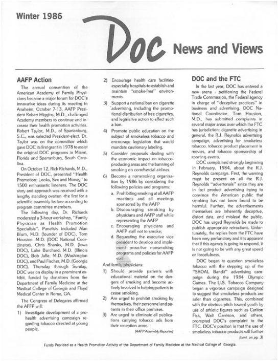 5. 1986, Winter- DOC News & Views