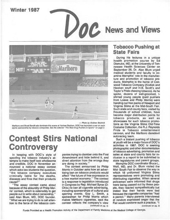 8. 1987, Winter- DOC News & Views