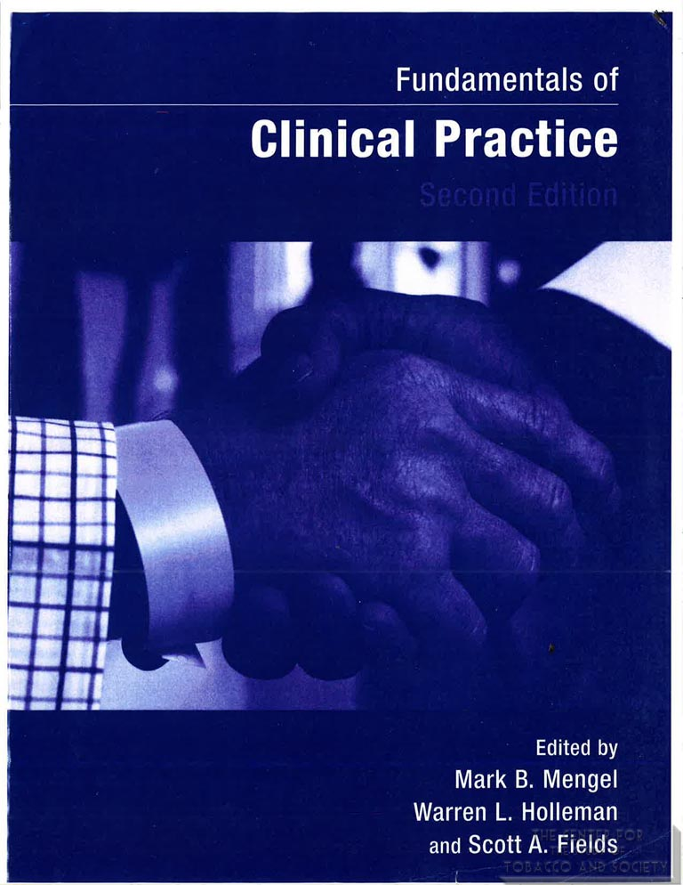 Blum Solberg chapter Fundamentals of Clinical Medicine Tobacco chapter compressed