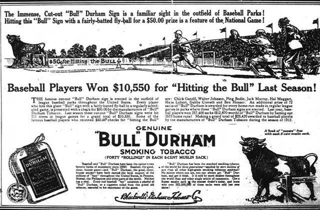1913 - Bull Durham - Hit the Bull