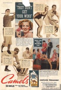 1935 - Camel - Athletes featuring Lou Ghering