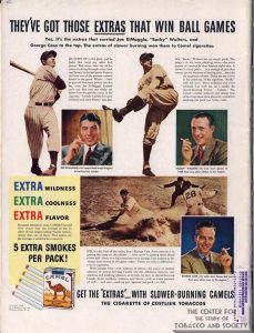 1940- Joe DiMaggio, Bucky Walters, & George Case for Camel