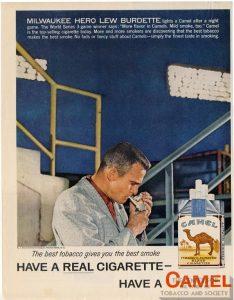 1958- Lew Burdette for Camel