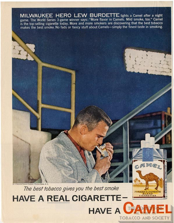 1958- Lew Burdette for Camel
