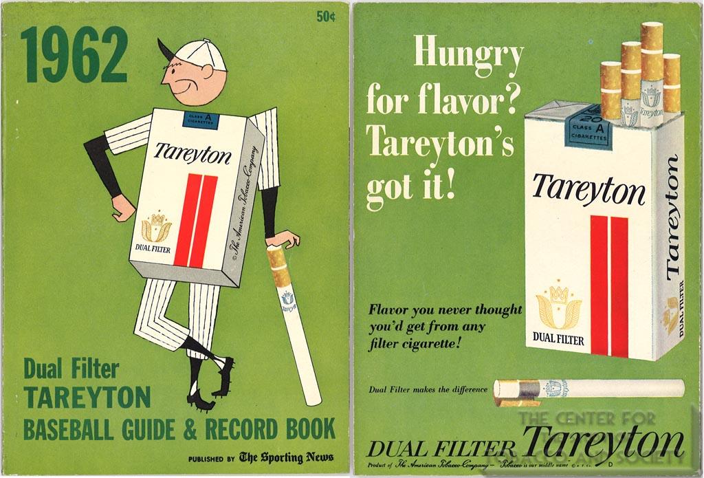 1962- Tareyton Baseball Guide & Record Book