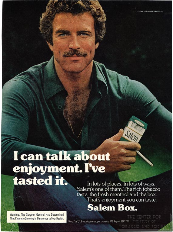 1976-06- Playboy - Tom Selleck for Salem