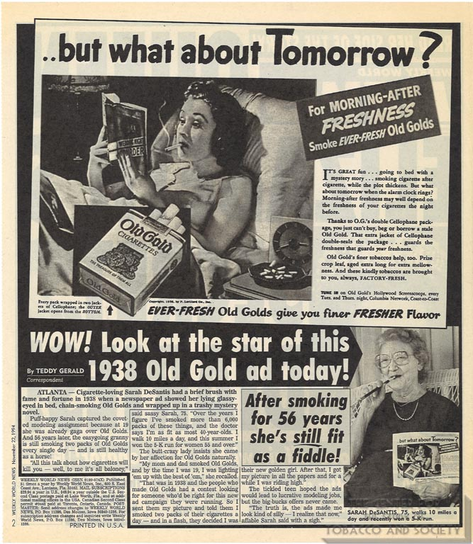 1994-11-22- Weekly World News - Look at the Star of This Old Gold Ad