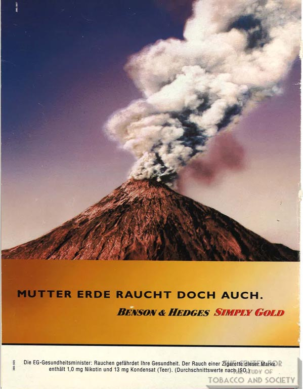 1995-11-27 - Der Spiegel - Benson and Hedges - Eruption