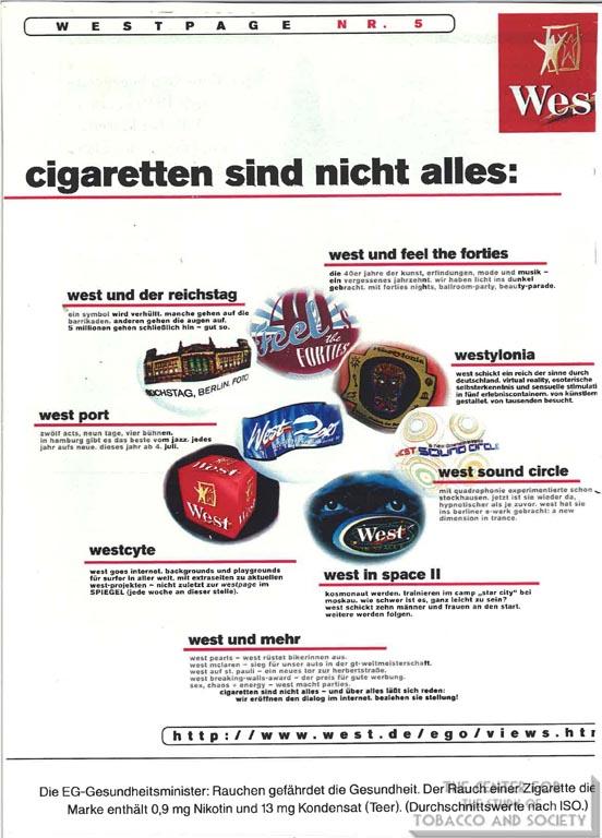 1996 - Der Spiegel - West - Cigaretten sind nicht alles