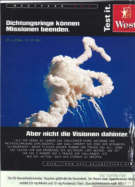 1996 - Der Spiegel - West - Sealing rings can finish mission but not the visions behind it