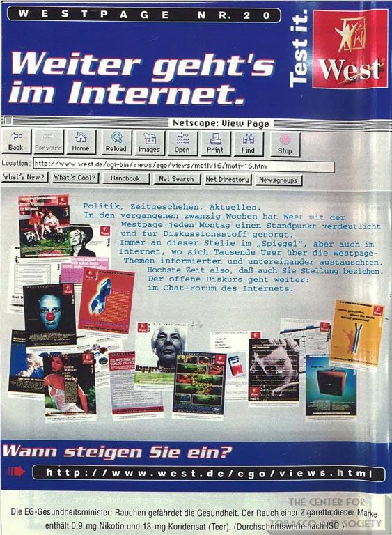 1996 - Der Spiegel - West - Weiter geth's im internet