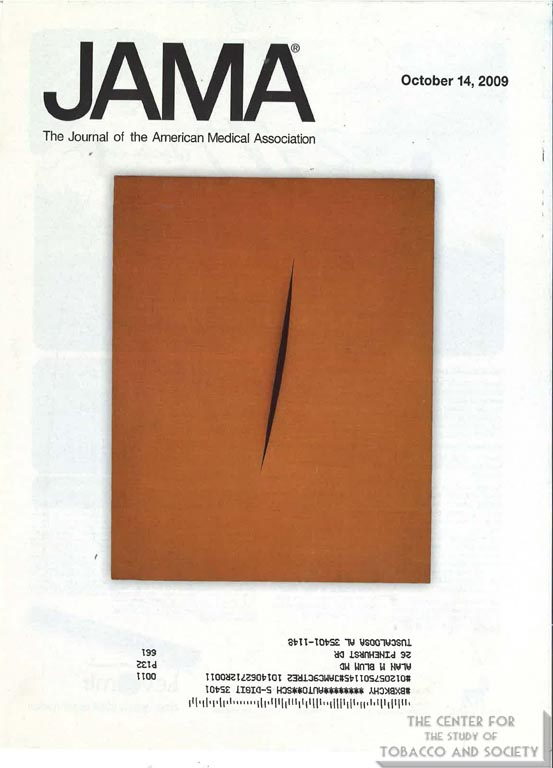 2009-10-04 - Journal of the American Medical Association - Lucio Fontana - Spatial Concept Expectations (1960)