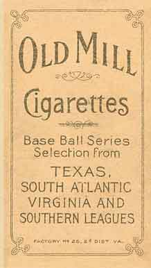 Cobb - Old Mill Cigarettes - Back