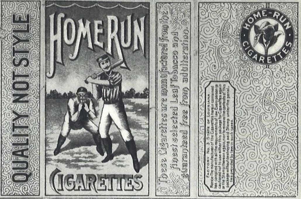 Home Run Cigarettes - American Tobacco Company - 1910 (Black and White)
